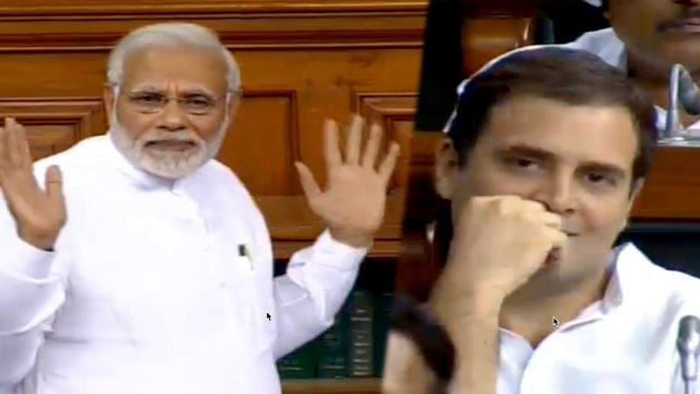 'Why hurry to grab power': PM Modi counters Rahul Gandhi's hug with a jibe