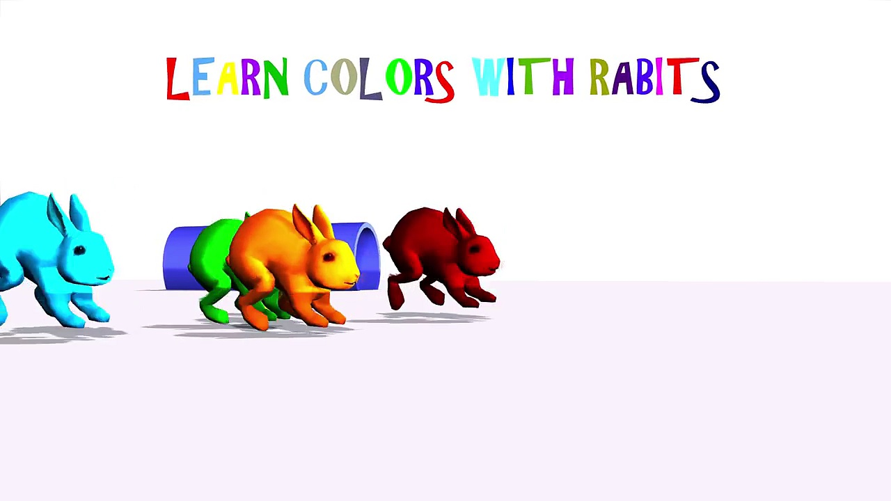 Learn Colors with Rabbit | Rabbit Videos for Kids | Different Color Rabbits for Kids