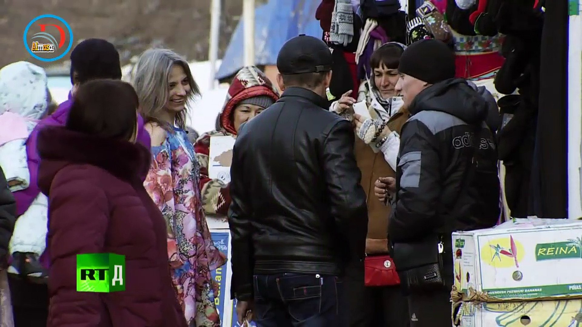 Ice Maiden. A Russian woman who has embraced the cold and wears light dresses in