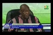 RTB / Campagne agricole - Point de presse du gouvernement animé par le ministre de l'agriculture Jacob Ouedraogo