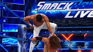 Andrade Cien Almas vs AJ Styles - Smackdown Live 7_17_18