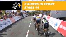 3 coureurs devant / 3 riders in front - Étape 14 / Stage 14 - Tour de France 2018