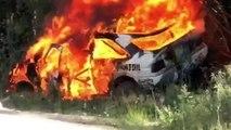 VÍDEO: El Ford Escort de Ken Block sale ardiendo tras un accidente en un rally