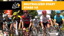 Départ fictif / Neutralized start - Étape 15 / Stage 15 - Tour de France 2018