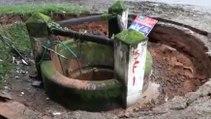 Un puits disparait subitement dans un grand trou !