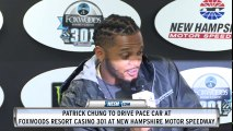 Patrick Chung pre-race news conference