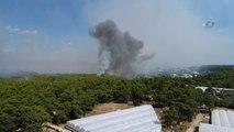 Antalya'daki Orman Yangını... 39 Arazöz, 221 Yangın İşçisi, 6 Söndürme Helikopteri, 2 Amfibik Uçak...