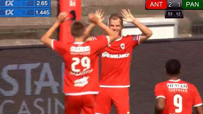 Geoffrey Hairemans Goal Hd Antwerp Bel 2 1 Panathinaikos Gre 22 07 2018 Video Dailymotion
