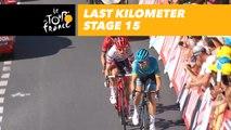 Last kilometer / Flamme rouge - Étape 15 / Stage 15 - Tour de France 2018