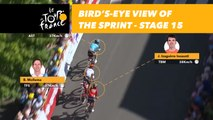 Vue aérienne du sprint / Bird's-eye view of the sprint - Étape 15 / Stage 15 - Tour de France 2018