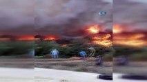 Antalya'daki orman yangını... 39 arazöz, 221 yangın işçisi, 6 söndürme helikopteri, 2 Amfibik uçak bir idare helikopteri ile 9 dozer görev yaptı