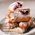 Cheesecake lovers, these Blueberry Cheesecake Egg Rolls were MADE for you. Full recipe: