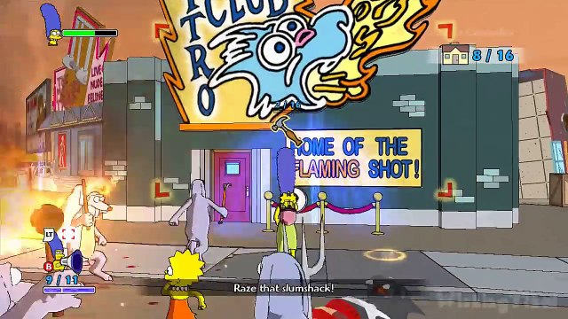 The Simpsons Game Walkthrough Part 14 - 100% (X360, PS3, PS2, Wii, PSP) Grand Theft Scratchy