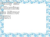 Lighted Makeup Mirror Lighted Vanity Mirror TriFold Illuminated Cosmetic Mirror with