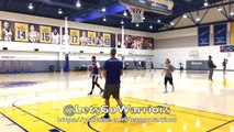 Steph Curry splashing, Klay with Quinn Cook and DJ after practice in Oakland, 2 days b4 WCF G3