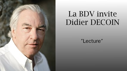 Didier DECOIN - lecture