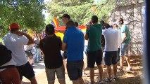 Manifestación republicana en el Valle de los Caídos por la exhumación de Franco