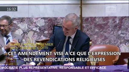 Révision constitutionnelle - amendement pour une laïcité exigeante