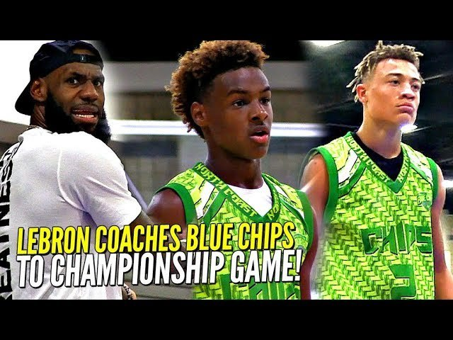 online store d82b8 d624a LeBron James Coaches Bronny Jr & Blue Chips To CHAMPIONSHIP GAME vs  Sharpshooter!! USBA Nationals!