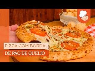 Pizza com borda de pão de queijo — Receitas TudoGostoso