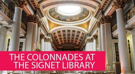 THE COLONNADES AT THE SIGNET LIBRARY - UNITED KINGDOM, EDINBURGH