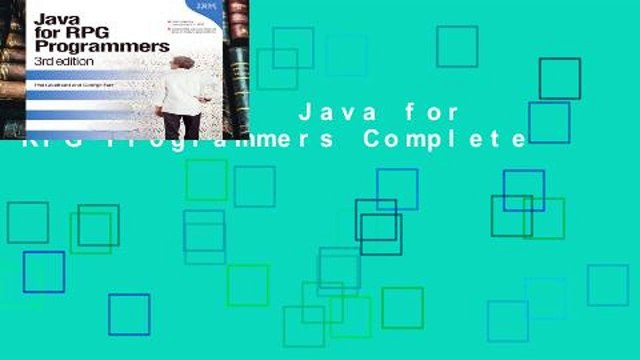3rd edition Java for RPG Programmers