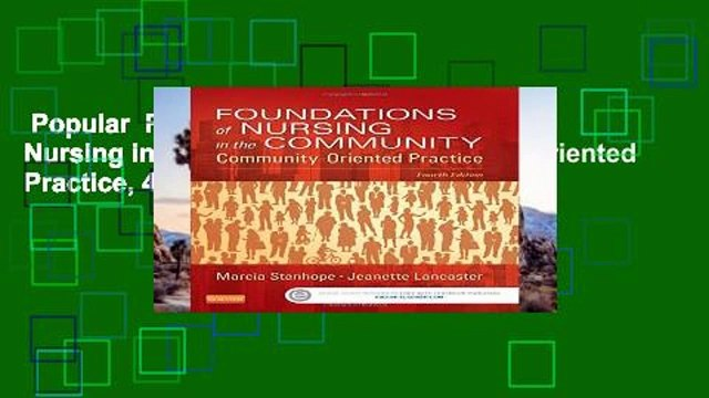 Popular  Foundations of Nursing in the Community: Community-Oriented Practice, 4e  E-book