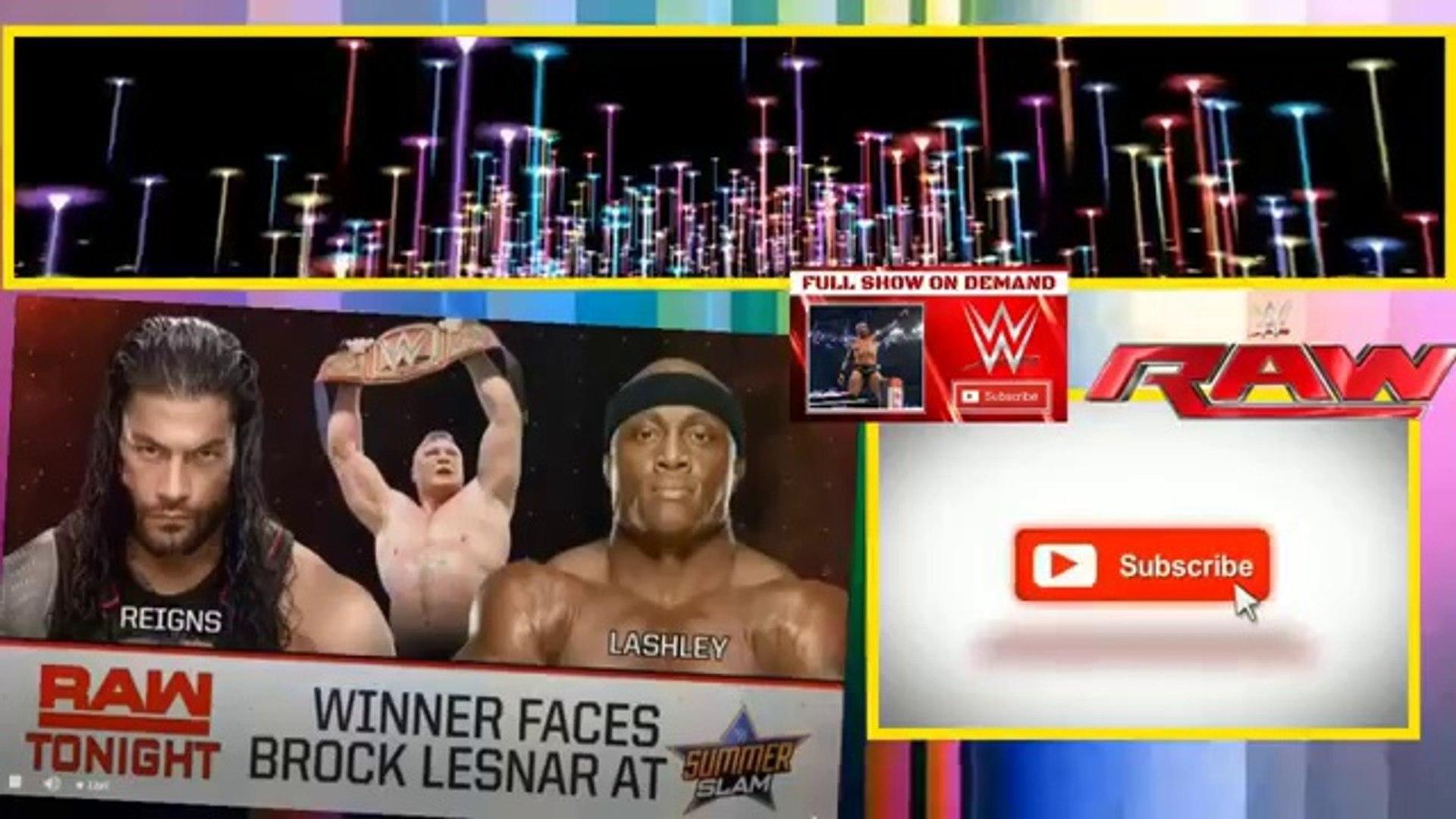 Watch WWE   Monday Night Raw  23 July 2018 Full Show HD