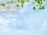 7Piece Jacquard Floral Comforter Sets QueenBedding Sets BedinaBag QueenBeige