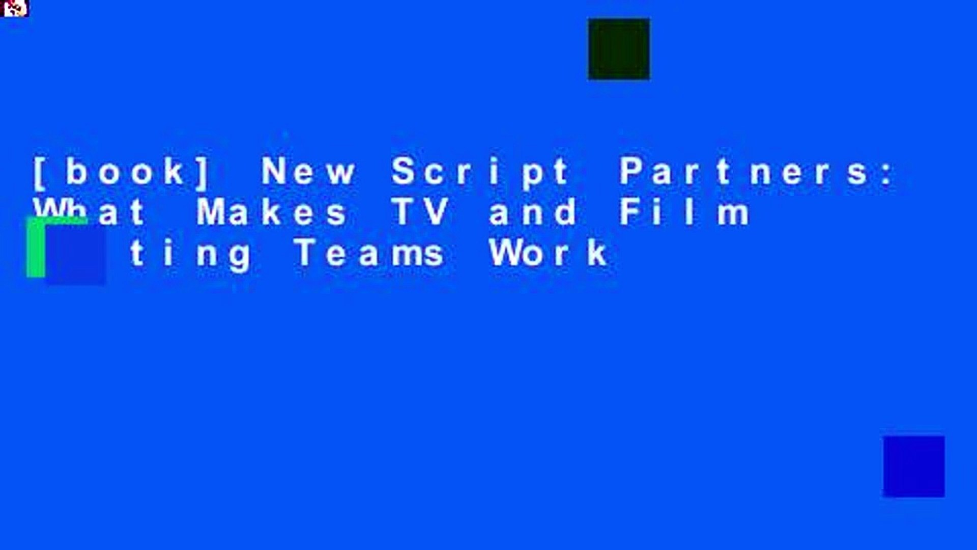 [book] New Script Partners: What Makes TV and Film Writing Teams Work