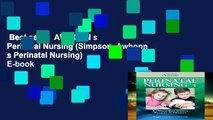 Best seller  AWHONN s Perinatal Nursing (Simpson, Awhonn s Perinatal Nursing)  E-book