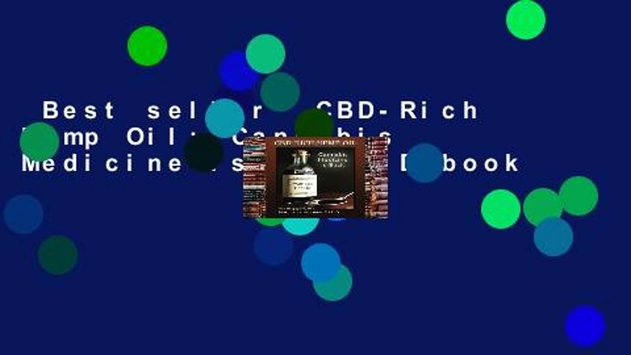 Best seller  CBD-Rich Hemp Oil: Cannabis Medicine is Back  E-book
