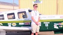Le plus jeune pilote à faire le tour du monde en avion débute son voyage