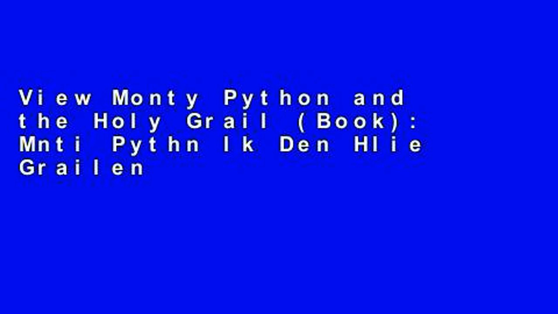 View Monty Python And The Holy Grail Book Mnti Pythn Ik Den