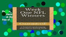 Reading Full Week One NFL Winners: A Football Handicapping Book (Sports Betting 2018) free of charge