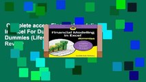 Complete acces  Financial Modeling in Excel For Dummies (For Dummies (Lifestyle))  Review