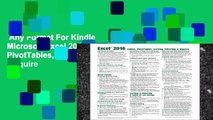 Any Format For Kindle  Microsoft Excel 2016 Tables, PivotTables, Sorting, Filtering   Inquire