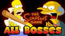 The Simpsons Game All Bosses | Final Boss (X360, PS3, PS2, Wii, PSP)