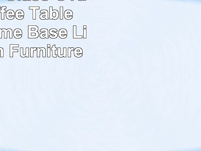 KIZE Clear Glass Oval Side Coffee Table Shelf Chrome Base Living Room Furniture