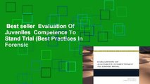 Best seller  Evaluation Of Juveniles  Competence To Stand Trial (Best Practices In Forensic