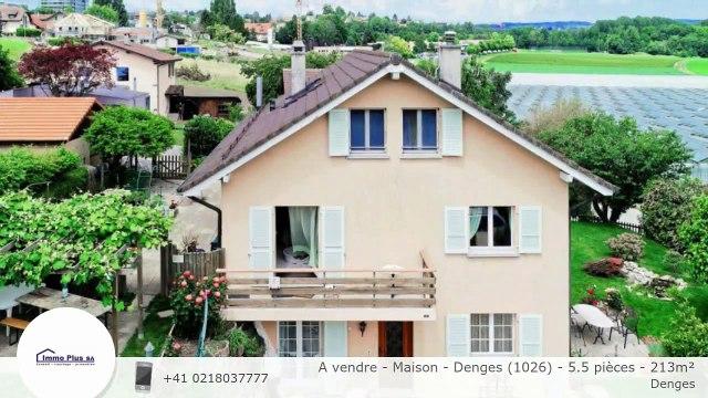 A vendre - Maison - Denges (1026) - 5.5 pièces - 213m²