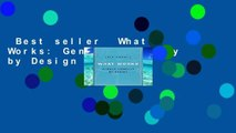 Best seller  What Works: Gender Equality by Design  E-book