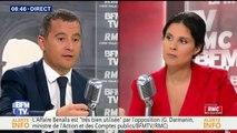 """Affaire Benalla: Emmanuel Macron """"le paye"""" médiatiquement aujourd'hui, estime Gérald Darmanin"""