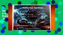 About For Books  Monster Manual: A Dungeons   Dragons Core Rulebook (Dungeons   Dragons Core