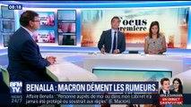 Affaire Benalla : Emmanuel Macron dément les rumeurs