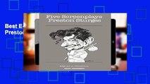 Best E-book Five Screenplays by Preston Sturges For Ipad
