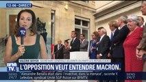 """""""On avait eu 'responsable mais pas coupable' et là nous avons 'coupable et irresponsable'"""", estime Boyer (LR) après les mots de Macron devant """"la secte"""" de LaREM"""