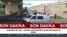 #SONDAKİKA Vatan Caddesi'nde araçlar mahsur kaldı