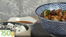 Petits poulpes rôtis à la sauce pimentée et légumes sautés - 750g   [ EXPRESS ]