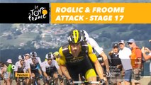 Roglic & Froome attaquent / attack - Étape 17 / Stage 17 - Tour de France 2018